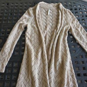 Tan long sweater/cardigan
